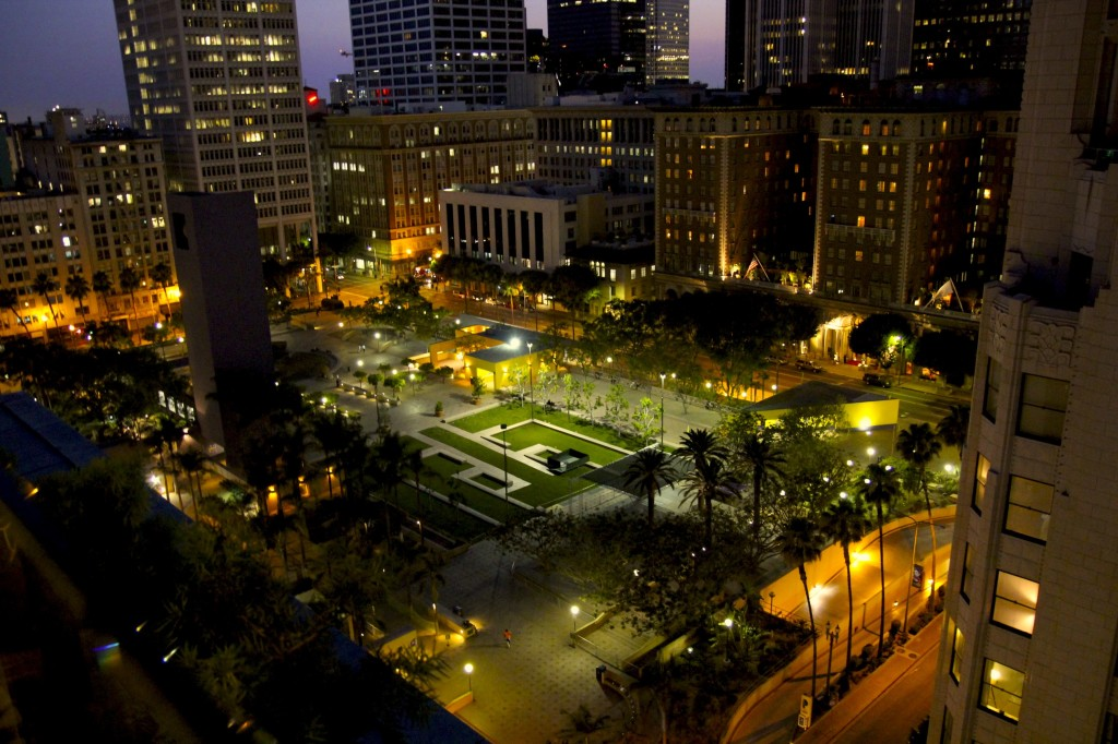 Here's one more shot of our gorgeous view!  This is overlooking Pershing Square.