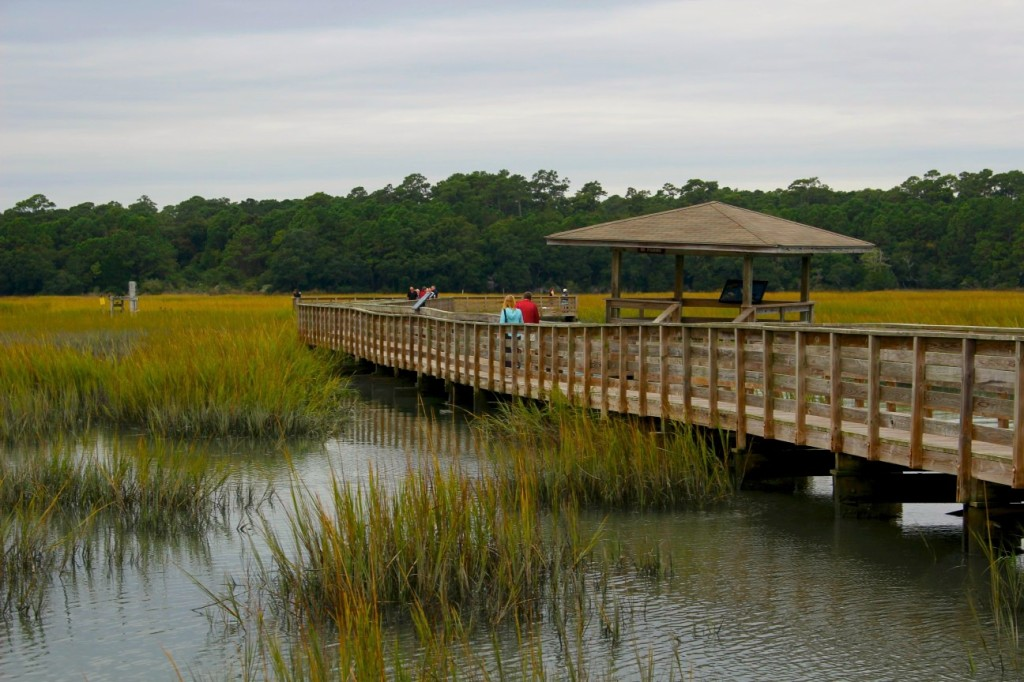 one of the boardwalks at huntington beach state park in murrells inlet